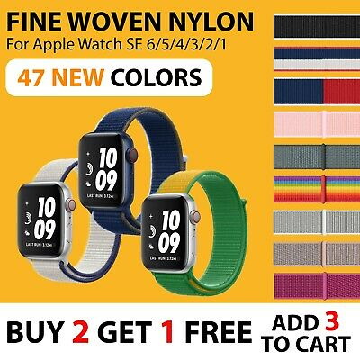AU6.70 • Buy 【Woven Nylon Band】Apple Watch IWatch SE 6 5 4 3 2 1 Sport Strap Loop 38/40 42/44