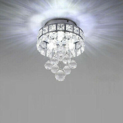 Modern Luxury Crystal LED Ceiling Light Lamp Fitting Pendant Chandelier Decor • 15.98£