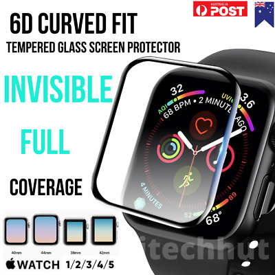 AU4.98 • Buy Screen Protector Cover For Apple Watch Full Cover Tempered Glass, 38,40,42,44mm