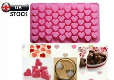 Silicone Candle Chocolate 55 Wax Mold Mini Jelly Hearts Ice Pink Melts Mould UK • 3.29£