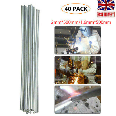 Solution Welding Flux-Cored Rods- 40pcs Free Shipping 2/1.6*500mm Wire Brazing • 5.99£