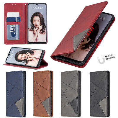 Leather Magnetic Wallet Flip Cover Case For Huawei PSmart P30 P40 P20 Lite Y5 Y6 • 4.99£