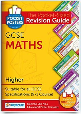 £5.99 • Buy GCSE Maths (Higher)   Pocket Posters: The Pocket-Sized Maths Revision Guide   GC