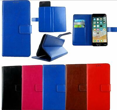 Slim Premium Leather Mobile Phone Wallet Book Case Cover For All IMO Phones • 4.89£