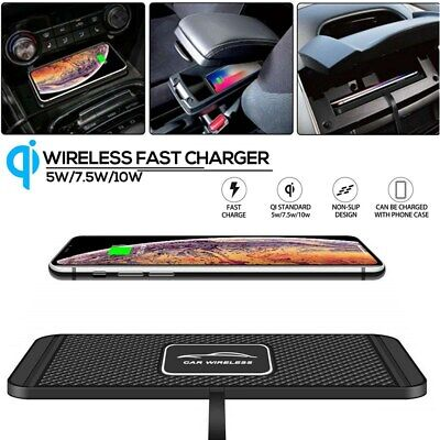 $ CDN16.48 • Buy QI Wireless Car Phone Charger Fast Charging Pad Mat For IPhone Samsung Universal