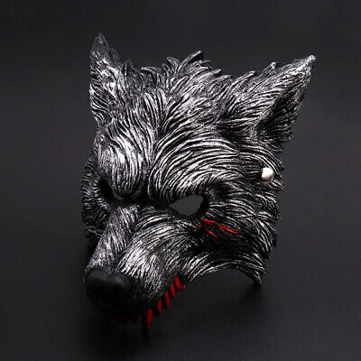 £7.29 • Buy Halloween Scary Festival Wolf Masks Head Rubber Cosplay Party Mask Kids Adult UK