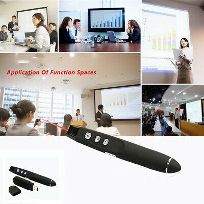 USB Wireless Remote Control Pointer Power Point Lecture Presentation Laser Pen * • 9.54£