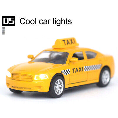 £5.94 • Buy 1/32 Diecast Alloy Taxi Pull Back Car Model With Led Sound Kids Education Toy Al