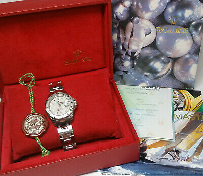 $ CDN6098.49 • Buy Ladies Rolex Yachtmaster Platinum Steel Recently Serviced At Rolex Box Papers