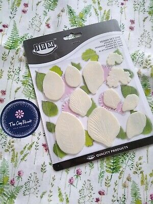 JEM Set Of 11 VEINER ONE Foliage Leaf Flower Icing Cutters Cut Outs Sugarcraft • 4.50£