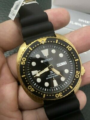 $ CDN469.25 • Buy New Seiko SRPC44 Turtle Prospex Automatic Diver Gold Tone Silicone Strap Watch