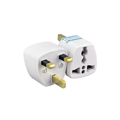 EU 2 Pin To 3 Pin UK ELECTRIC SHAVER TOOTHBRUSH PLUG ADAPTOR/PLUG • 2.49£