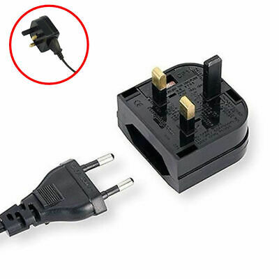 EU Germany 2 Pin To UK 3 Pin Main Power Plug Adapter Converter With 5A Fused UK • 3.79£