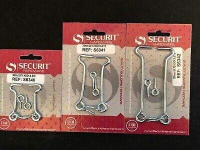 75mm Various Size Gate Hook and Eye 100mm Rabbit Hutch Cabin Zinc Plated,50mm