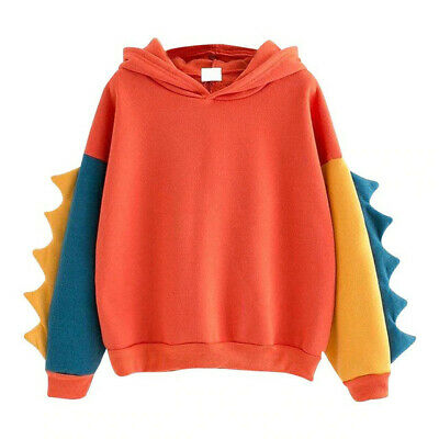 Dinosaur Hoodie Red Large - Top Clearance Spike Tail Shirt Sweater Abdl Jacket • 9.99£