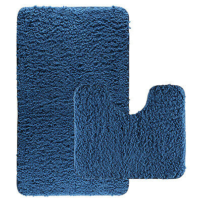 Luxurious Thick Bath Mats Shaggy Washable 2 Piece Set Toilet Rug, Spring • 7.99£