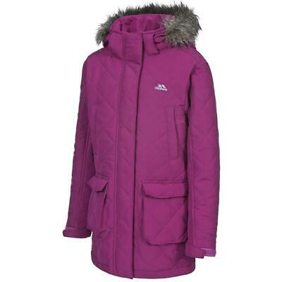 Kids Girls Trespass Reep Quilted Padded Jacket Hooded Coat With Detachable Hood • 15.95£