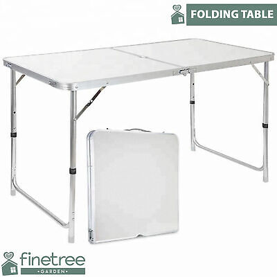 Heavy Duty 4ft Folding Table Portable Plastic Camping Garden Party Catering New • 20.99£