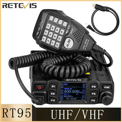 Dual Band Mobile Radio Ham Car Radio 200CH DTMF 5Tone CTCSS/DCS Retevis RT95 • 96.99£
