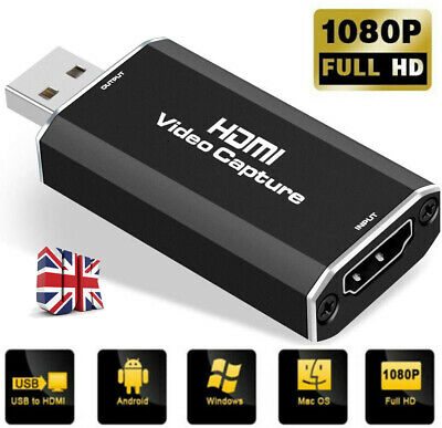 £13.19 • Buy HDMI To USB 2.0 Video Capture Card 1080P HD Recorder Game/Video Live Streaming