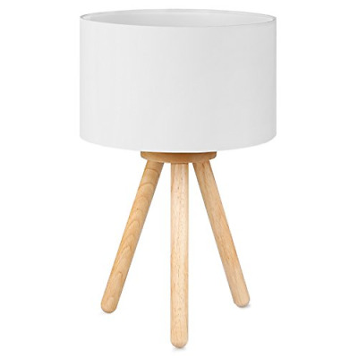 Tomons Wood Tripod Bedside Lamp, Simple Design With Soft Light For Bedroom In 4W • 33.65£