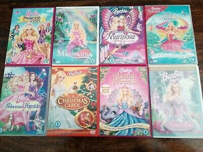 Barbie DVDs Bundle Eight Fairytopia Swan Lake Fairy Butterfly Christmas Carol  • 11£