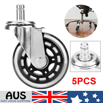 AU32.79 • Buy Rollerblade Office Chair Wheels 3  - Set Of 5 Black Replacement Rolling Circlip