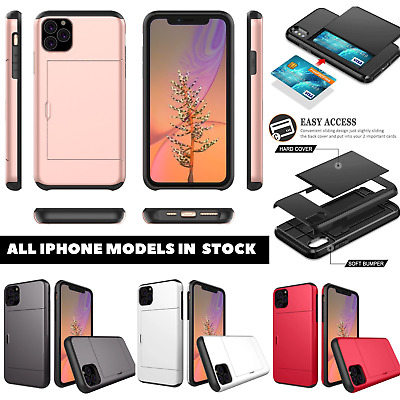 AU10.95 • Buy For IPhone 11 Pro Max XS MAX XR 8 7 SE Spigen Card Holder Shockproof Case Cover