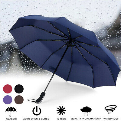 AU23.82 • Buy New Compact Umbrella Automatic Fold Windproof Strong Travel Wind Uv Resistance