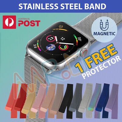 AU9.68 • Buy 【Apple Watch】 SE 6 5 4 3 2 1 IWatch Milanese Band Magnetic Stainless Loop Strap