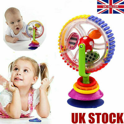 Baby Kid Infant Toys Rainbow Ferris Wheel Rattle Clanking Suction High Chair Toy • 7.29£