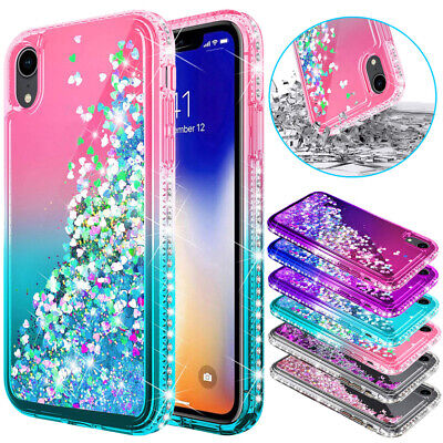 Glitter Bling Case Liquid Quicksand Cover For Huawei P20 P30 Lite Mate 20 Pro • 5.95£