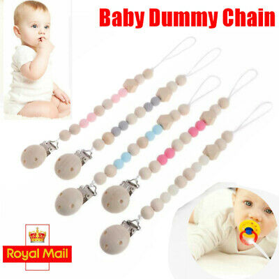 Dummy Clips Baby Soother Chain Holder Strap Pacifier Modern Design Teething Gift • 3.69£