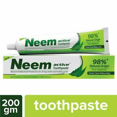 £11.99 • Buy Neem Active Anti Bacterial Protection Strong Teeth Toothpaste 98% Natural - UK