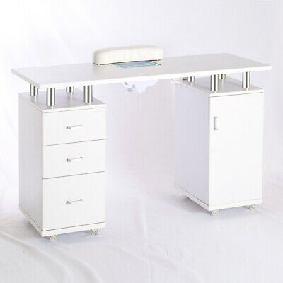£259.95 • Buy White Professional Manicure Table Portable Nail Station Desk With Dust Collector
