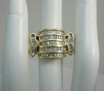 $1100.75 • Buy Very Nice 14k Yellow Gold Mens Channel Baguette Diamond Ring ~1.88ct,   14.1g