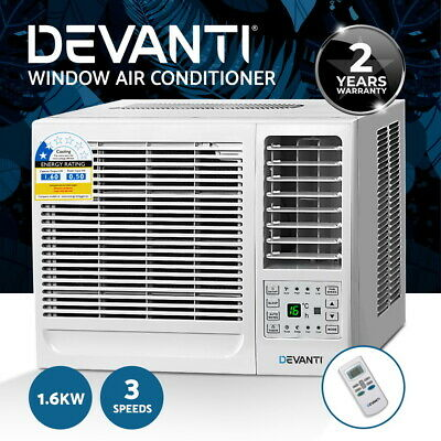 AU209.90 • Buy Devanti 1.6kW Window Air Conditioner W/o Reverse Cycle Wall Box Cooling Only