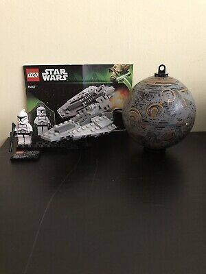 Lego Star Wars Republic Assault Ship And Planet Coruscant 75007 100% Complete • 18.14£