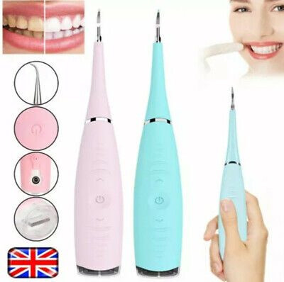 Electric Sonic Dental Scaler Tartar Calculus Plaque Remover Teeth Stains Cleaner • 6.98£