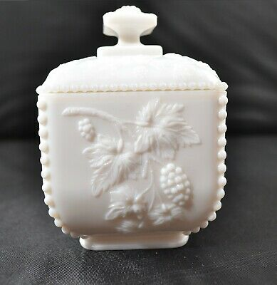 $20.95 • Buy Milk Glass Dish Candy Dish With Cover