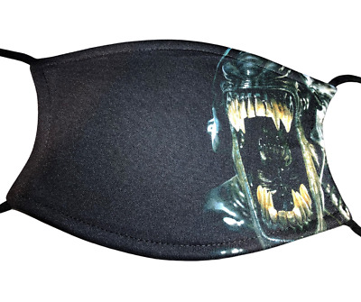 Alien Face Mask Covering Washable With Filter • 8.50£