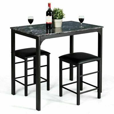 AU143.99 • Buy Dining Table And Chairs Set Wood Modern Marbled Tabletop Home Kitchen Furniture