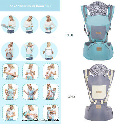 Ergonomic Infant Baby Carrier Hip Seat Stool Adjustable Wrap Sling Backpack Gift • 14.89£