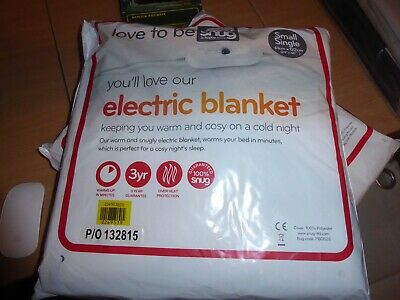 BNWT  Electric Blanket Small Single Size Love To Snug Washable • 7.50£