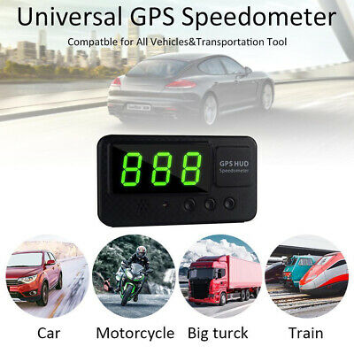 UK Digital GPS Speedometer HUD MPH / KM/h Overspeed Warning For Car Motorcycles • 17.95£