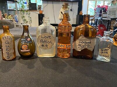 $ CDN31.70 • Buy 7 Handmade Halloween Witch Potion Brew Apothecary Lab Haunted House Props Spooky