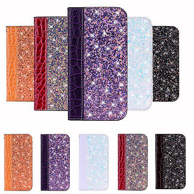 Glitter Bling Leather Flip Cover Case For Huawei P30 P20 P40 Lite Pro P Smart • 4.59£