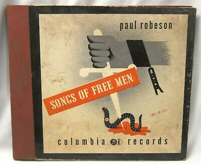 $44.95 • Buy Paul Robeson Columbia Records Set M-534 ~ 78Rpm X 4 ~ Songs Of Free Men