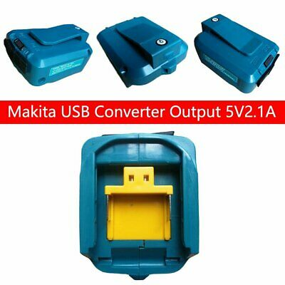 AU19.87 • Buy Dual USB Port Phone Charger Battery Adapter For Makita 18 14.4V BL1830/1430