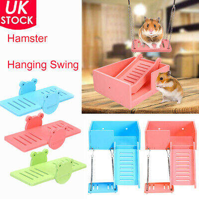Pet Hamster Hanging Swing /seesaw Guinea Pig House Cage Bed Ladder Climb Toy • 3.89£